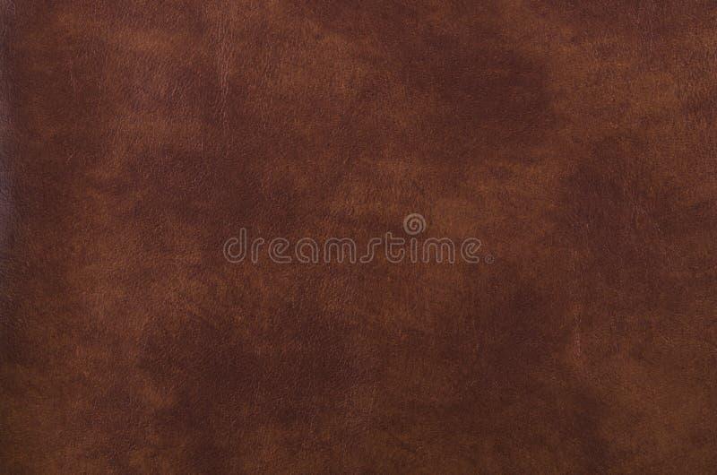 Textuur van donker bruin leer royalty-vrije stock afbeelding