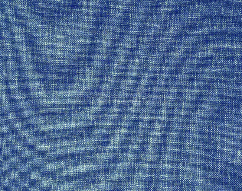 Textuur van een blauwe geweven synthetische stoffenachtergrond stock foto's