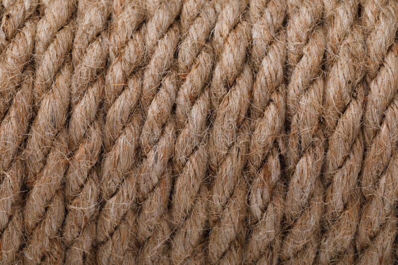 Textuur van een kabel van vlas wordt gemaakt dat royalty-vrije stock afbeeldingen