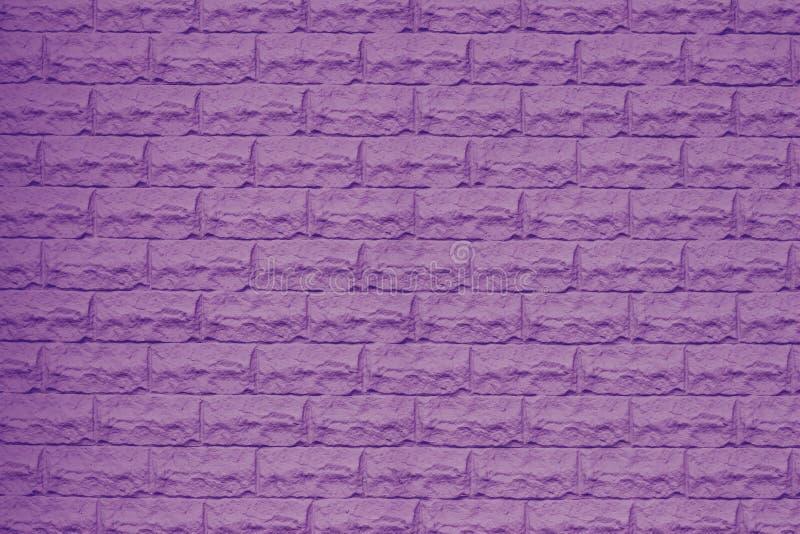 Textuur van een violette bakstenen muur Baksteen heldere purple als achtergrond Purper bakstenen muurpatroon Binnenlands detail D stock illustratie