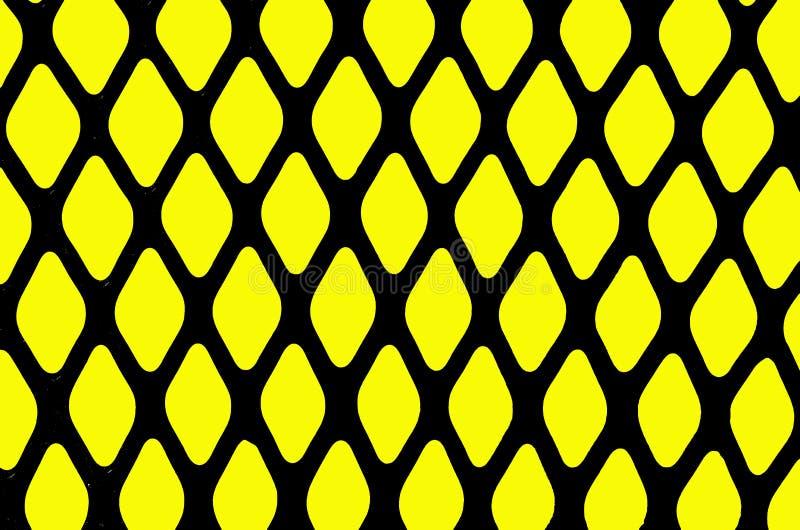 Textuur van een zwarte metaalgrill vector illustratie