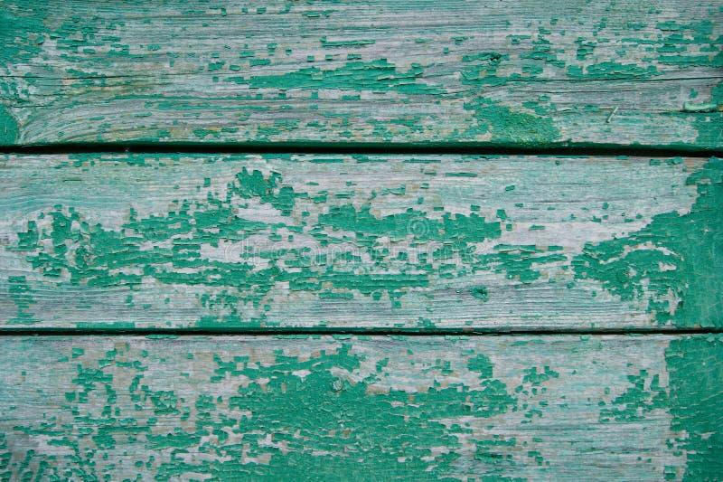 Textuur van gebarsten groene verf royalty-vrije stock fotografie