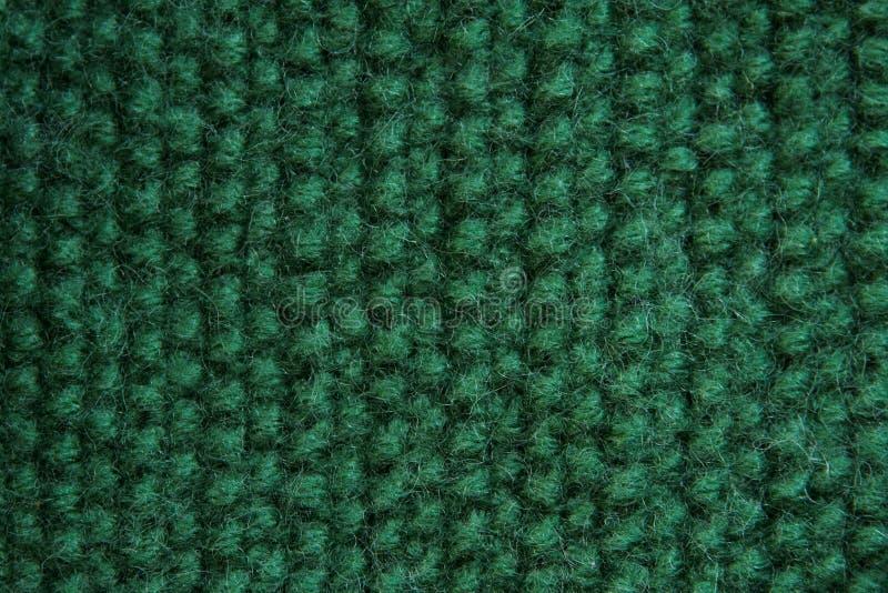 Textuur van gebreid groen canvas royalty-vrije illustratie