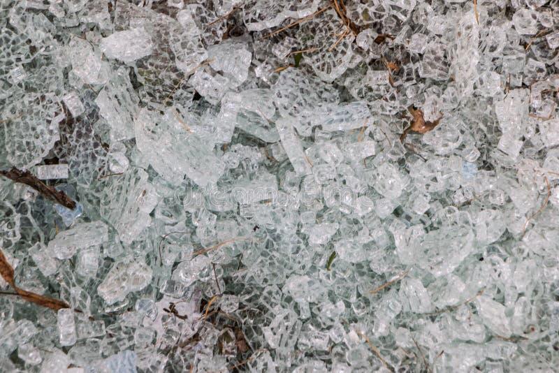 Textuur van gebroken glas, afzonderlijk stuk glazen royalty-vrije stock afbeelding