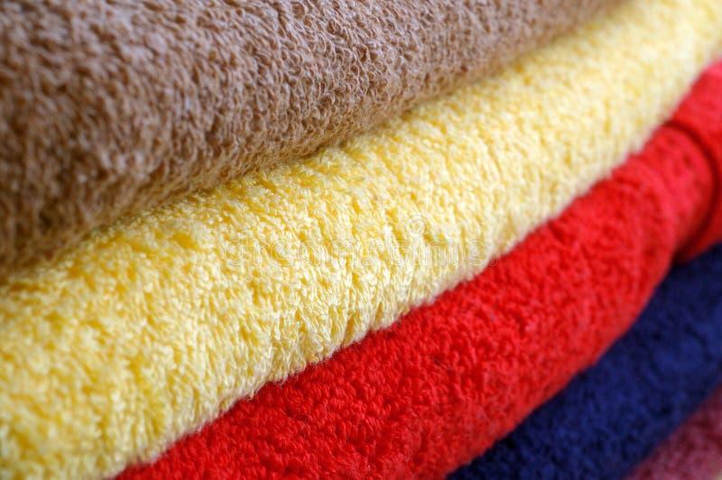 Textuur van gekleurde handdoeken royalty-vrije stock fotografie