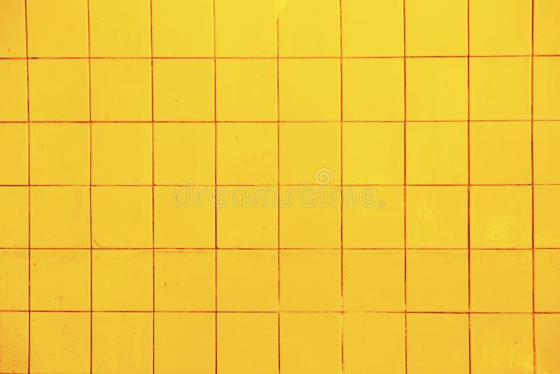 Textuur van gele tegels stock foto's