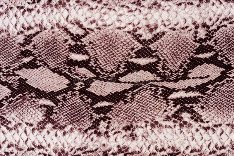 Textuur van gestreept de slangleer van de drukstof royalty-vrije stock afbeelding