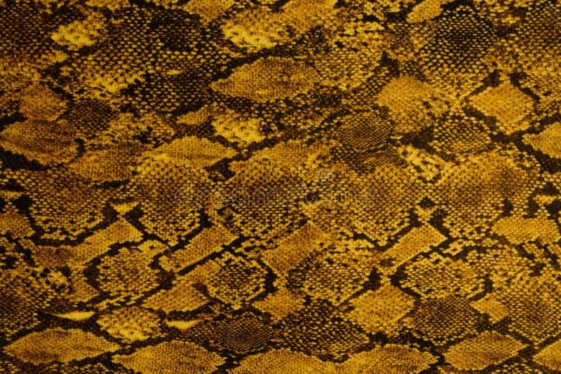 Textuur van gestreept de slangleer van de drukstof voor achtergrond stock fotografie
