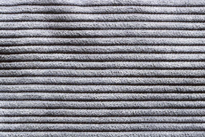 Textuur van gestreept grijs tapijt, abstracte patroonachtergrond royalty-vrije stock fotografie