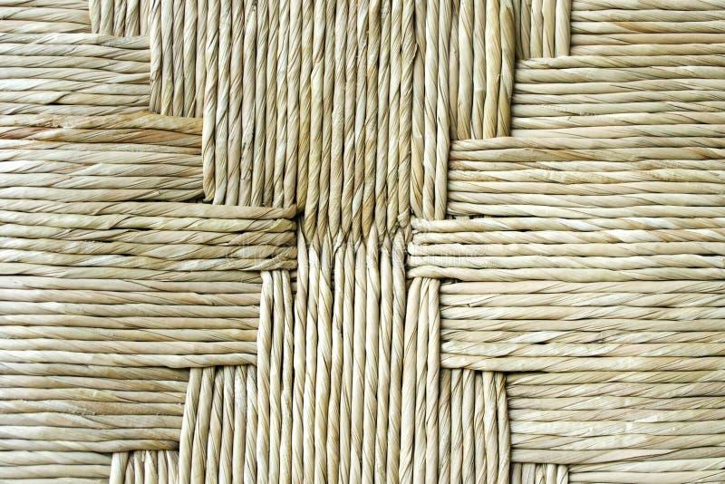 Textuur van geweven stro royalty-vrije stock fotografie