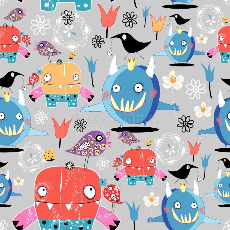 Textuur van grappige monsters royalty-vrije illustratie