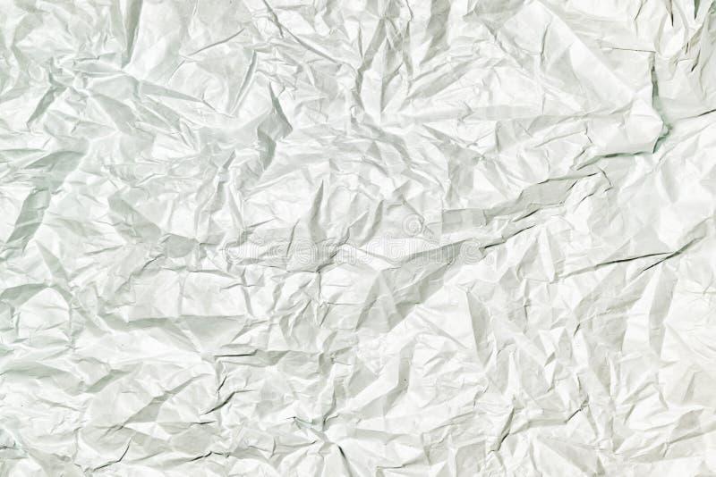 Textuur van grijs verfrommeld document, abstracte achtergrond voor lay-outs royalty-vrije stock foto