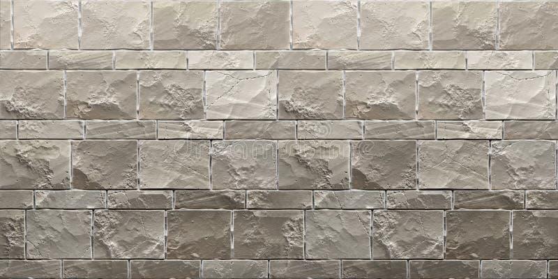 Textuur van grijze grunge brickwall 3d geef terug stock illustratie