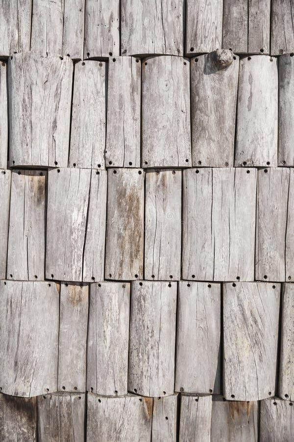Textuur van grijze grijze omheiningsraad Aan gebruik als achtergrond stock foto