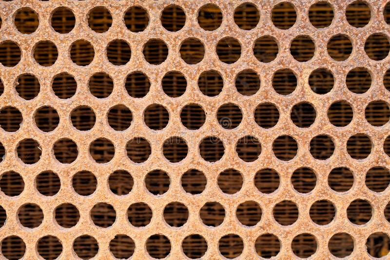 Textuur van grill of opening stock foto's