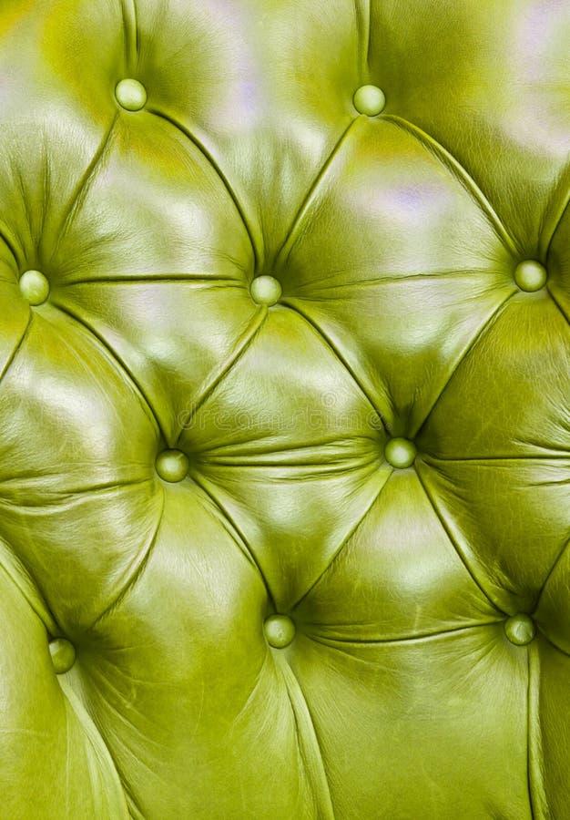 Textuur van groen leer stock foto's