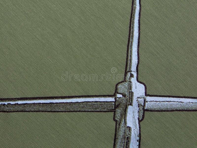Textuur van groene doek stock fotografie
