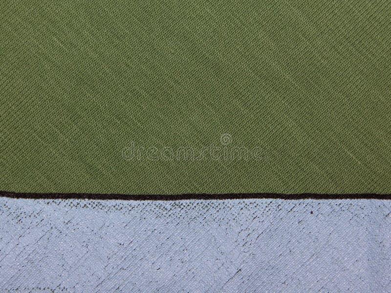 Textuur van groene doek stock afbeelding