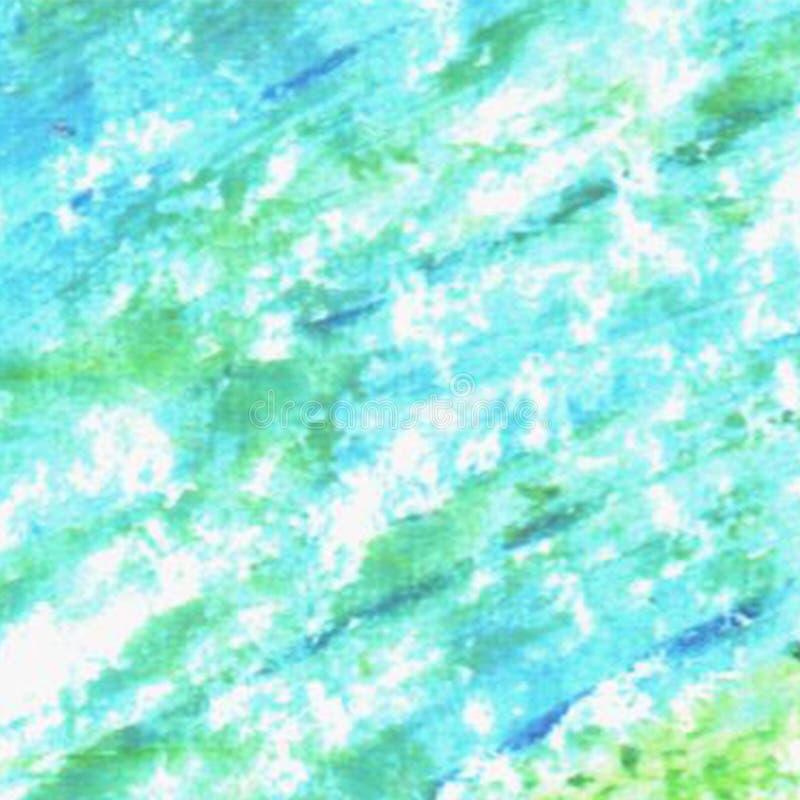 Textuur van Grunge de blauwe en groene elementen Getrokken pastelkleurhand vector illustratie