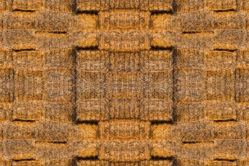 Textuur van heel wat balen van hooi stock foto