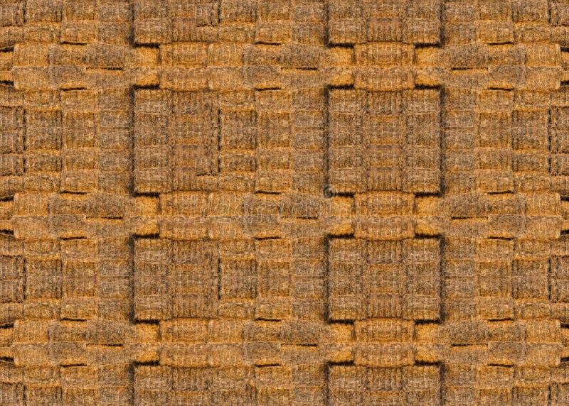 Textuur van heel wat balen van hooi stock afbeelding