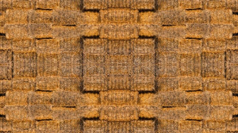 Textuur van heel wat balen van hooi stock fotografie