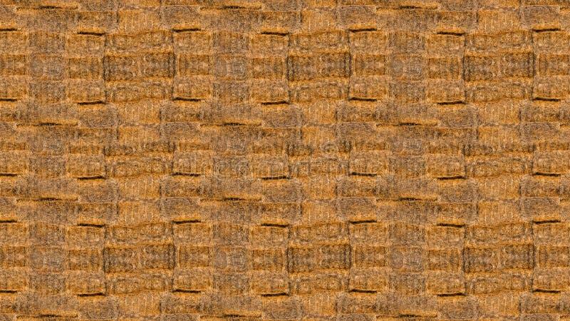 Textuur van heel wat balen van hooi royalty-vrije stock fotografie