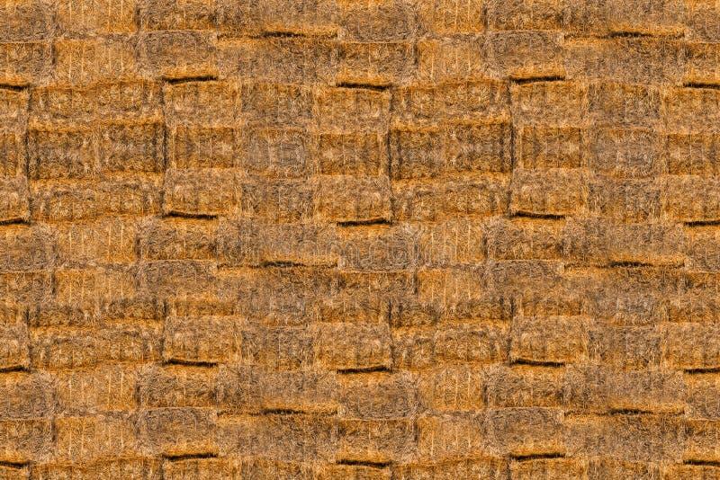 Textuur van heel wat balen van hooi stock afbeeldingen