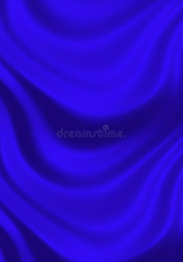 Textuur van heldere blauwe zijde vector illustratie