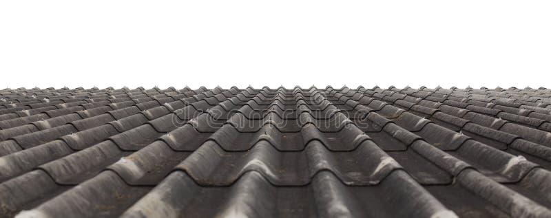 Textuur van het dakblad van het vezelcement stock foto's