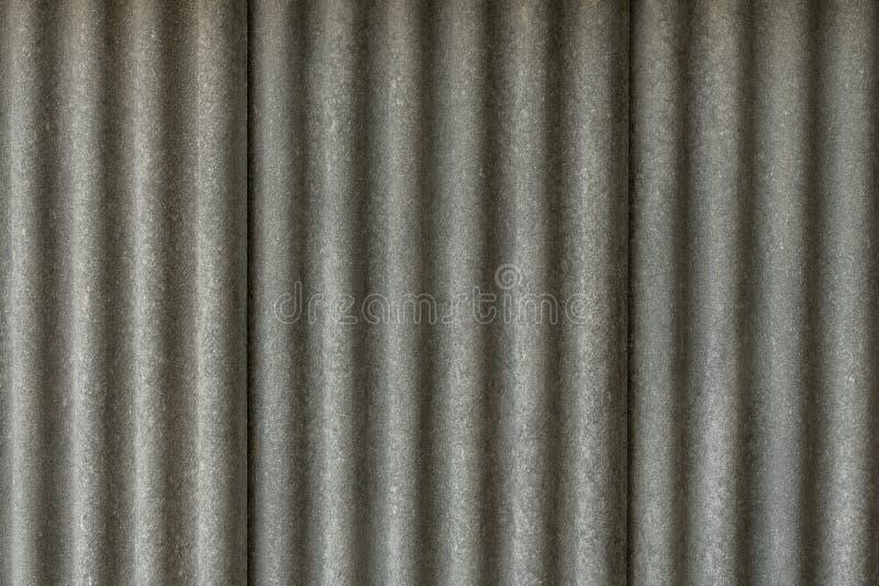Textuur van het dakblad van het vezelcement Sluit omhoog van de golftegel van het golfasbest Klassieke stijl royalty-vrije stock foto's