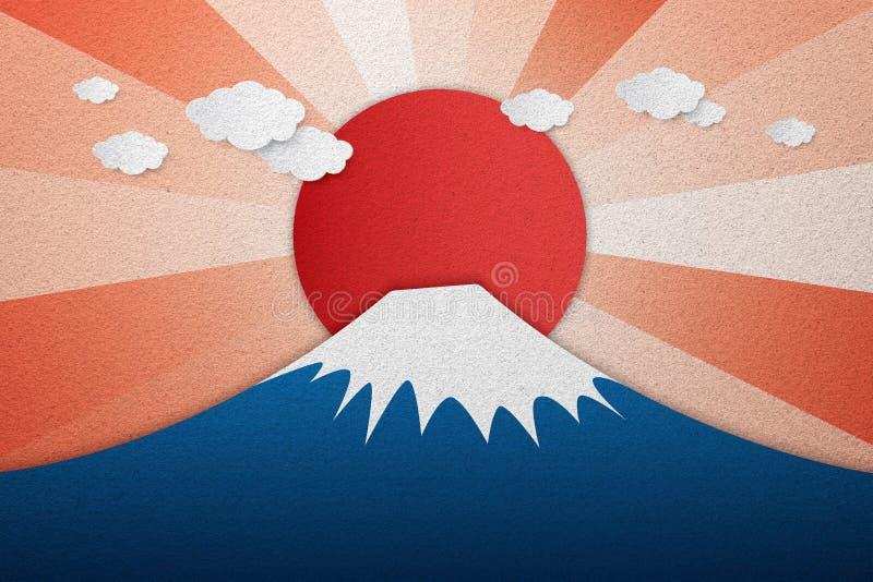 Textuur van het Fuji de berg berijpte glas als achtergrond royalty-vrije stock fotografie