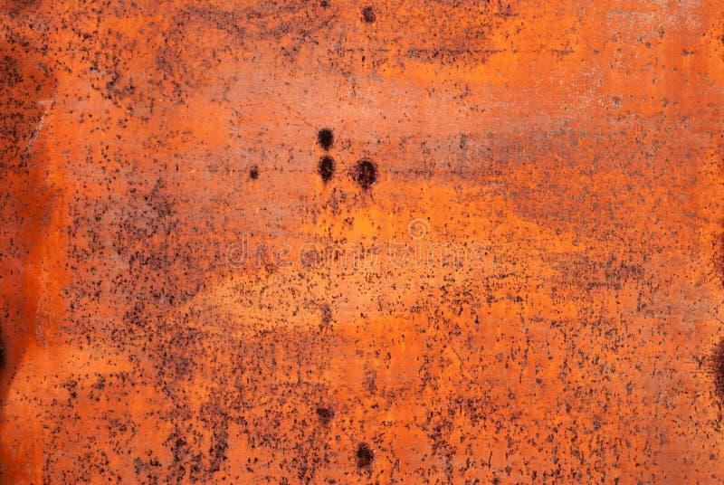 Textuur van het gember de roestige metaal Oude geschilderde metaaloppervlakte stock afbeeldingen
