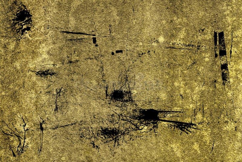 Textuur van het Grunge de ultra gele Concrete cement, steenoppervlakte, rotsachtergrond royalty-vrije stock fotografie