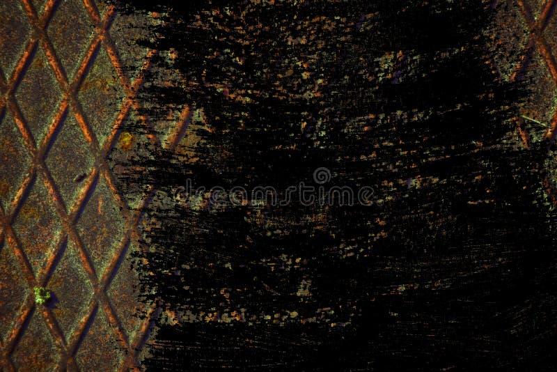 Textuur van het Grunge de Ultra oranje Roestvrije staal, ijzerachtergrond voor ontwerpergebruik stock foto's