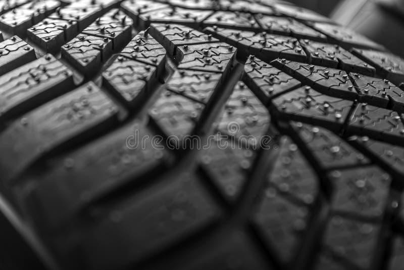 Textuur van het loopvlak van de autoband royalty-vrije stock foto