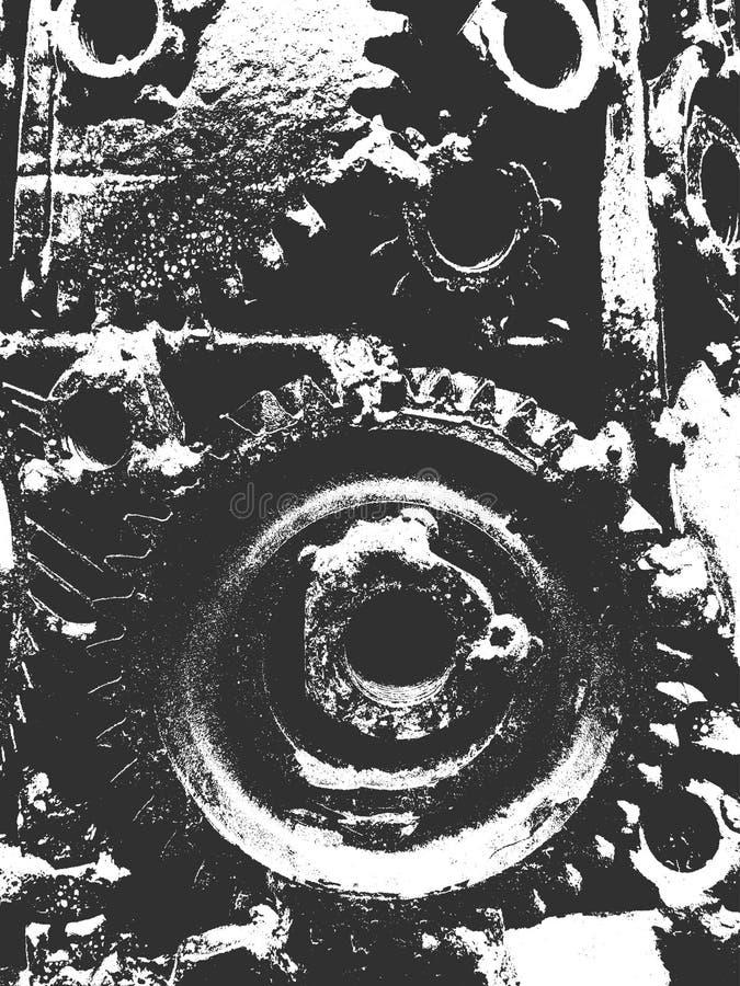 Textuur van het nood de oude geroeste metaal Modieuze hoogste en in ontwerpachtergrond om toestellen stock illustratie