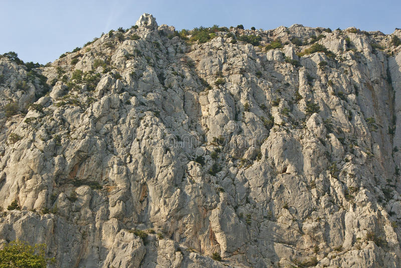 Textuur van hoge rots royalty-vrije stock fotografie