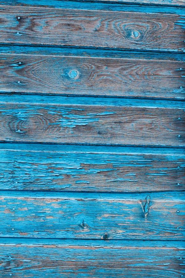 Textuur van Houten blauw paneel voor achtergrond stock foto