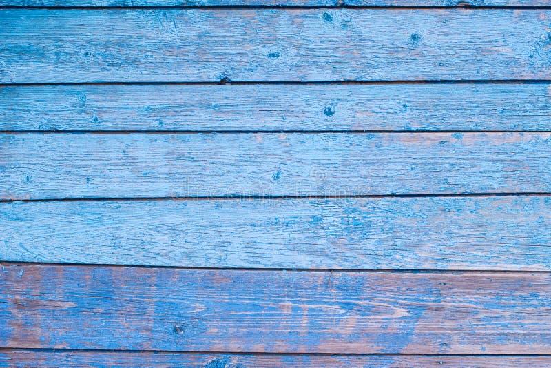 Textuur van Houten blauw paneel voor achtergrond stock foto's