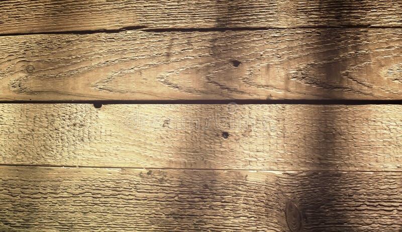 Textuur van houten planken op zonlicht stock foto's