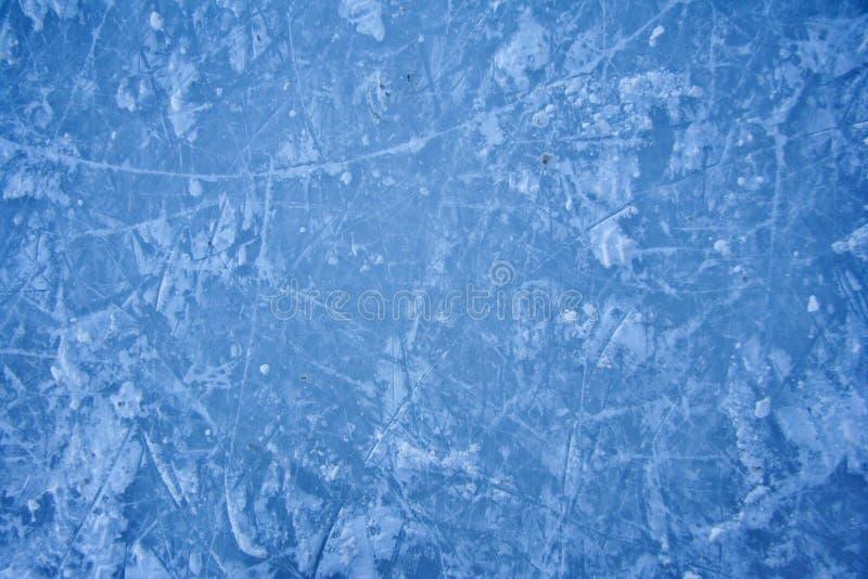 Textuur van ijs het schaatsen piste in openlucht royalty-vrije stock afbeelding