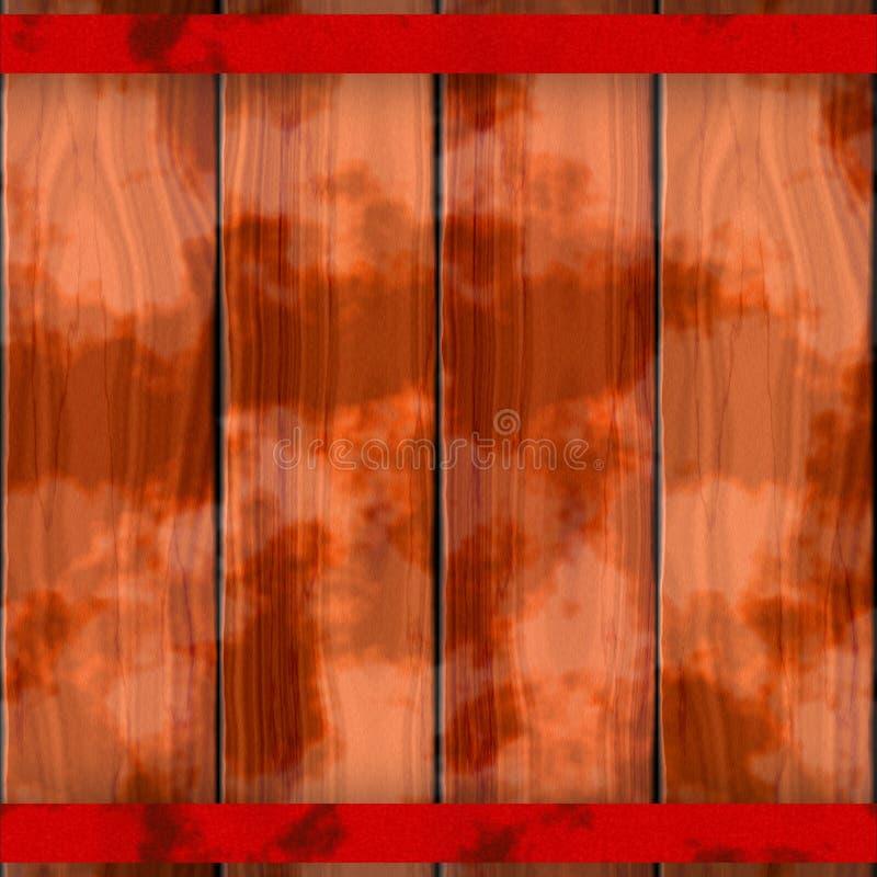 Textuur van kleurrijke houten omheining of vloer Bruine, rode, oranje, roestige metaalstraal royalty-vrije illustratie