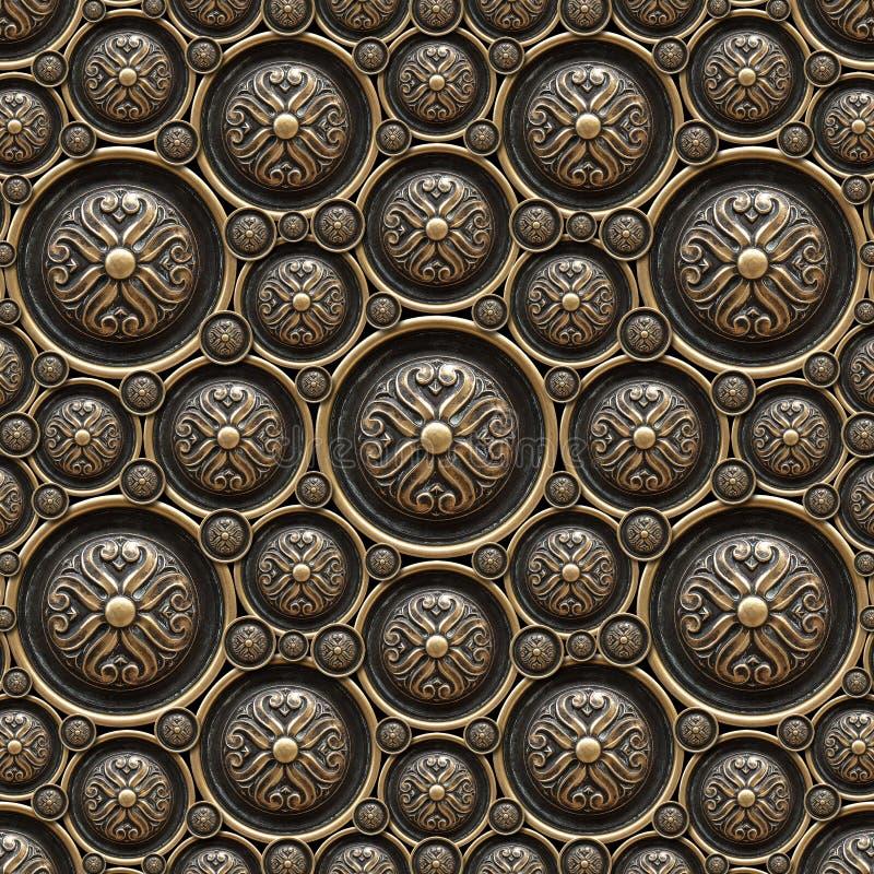 De Achtergrond van het messing met Klassiek Ornament royalty-vrije stock fotografie