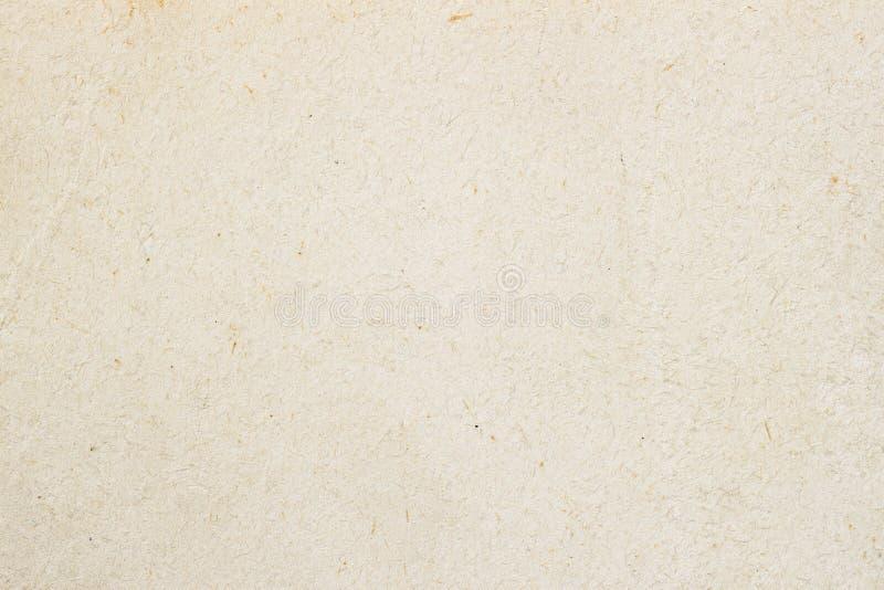 Textuur van licht ecologisch roomdocument, achtergrond voor ontwerp met exemplaar ruimteteksten of beeld Het rekupereerbare mater stock fotografie