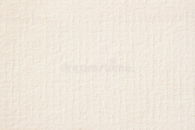 Textuur van licht roomdocument voor waterverf en kunstwerk Moderne achtergrond, achtergrond, substraat, samenstellingsgebruik met stock afbeeldingen
