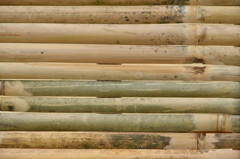 Textuur van oude bamboe houten planken stock afbeelding