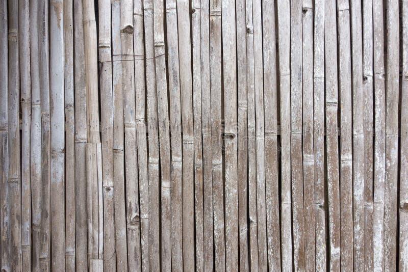 Textuur van oude bamboeomheining stock afbeelding