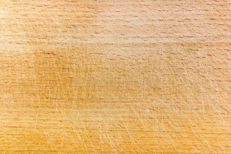 Textuur van oude beukraad met krassen Natuurlijke houten achtergrond stock afbeelding