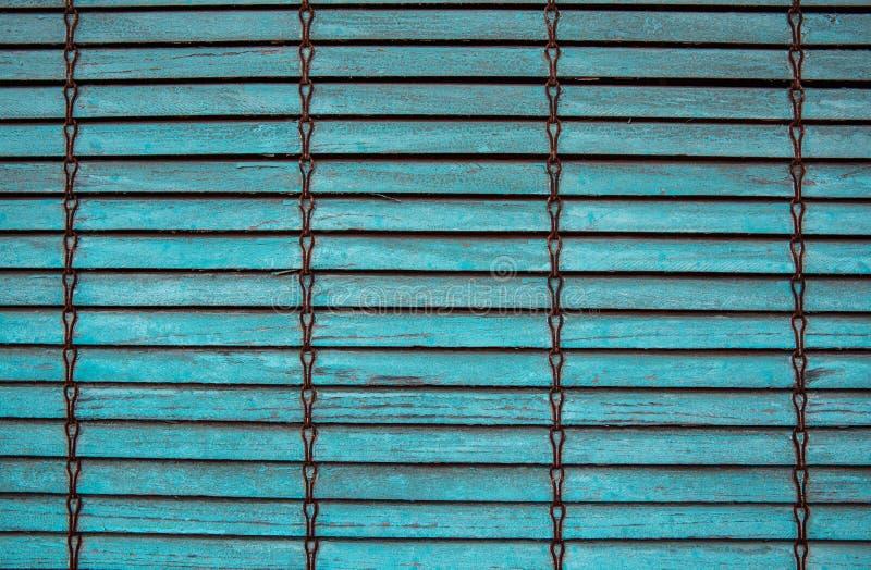 Textuur van oude blauwe blinden stock foto